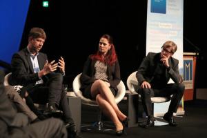 Carsten Schüerhoff, Julia Schutz, Andreas-Peter Weber, Bild: MEDIENTAGE MÜNCHEN