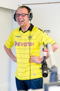 Bild: Bild Torschrei-Weltrekord im SPORT1.fm-Studio mit Christian Kinner