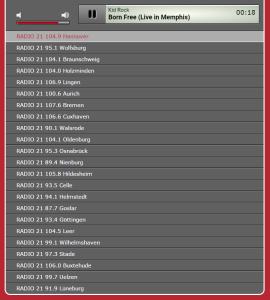 Screenshot Radio-21-Streams