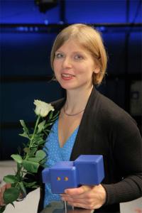 Bild: Ulrike Müller, Gewinnerin des Deutschen Hörspielpreises der ARD 2015, Bildrechte: SWR / Peter A. Schmidt