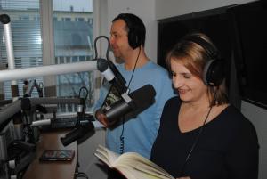 Birgit Hasselbusch und Stefan Grothoff im SPORT1.fm-Studio , Bild: SPORT1.fm