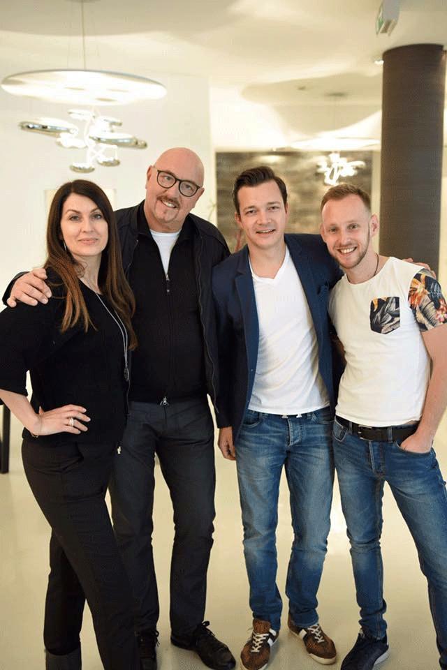 v.l.n.r.: Monika Ballwein, Carlheinz Gern, Robin Schuster, Mario Amiro; Bild: DONAU 3 FM