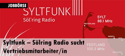 Syltfunk – Sölring Radio sucht Vertriebsmitarbeiter/in