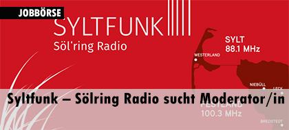Syltfunk – Sölring Radio sucht Moderator/in
