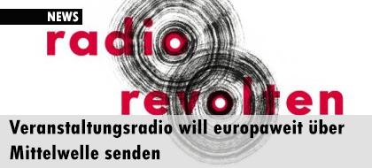 Veranstaltungsradio will europaweit über Mittelwelle senden