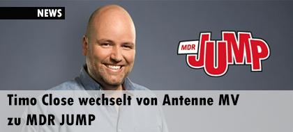 Timo Close wechselt von Antenne MV zu MDR JUMP