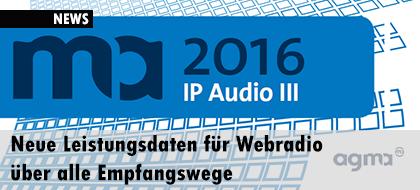 Neue Leistungsdaten für Webradio über alle Empfangswege
