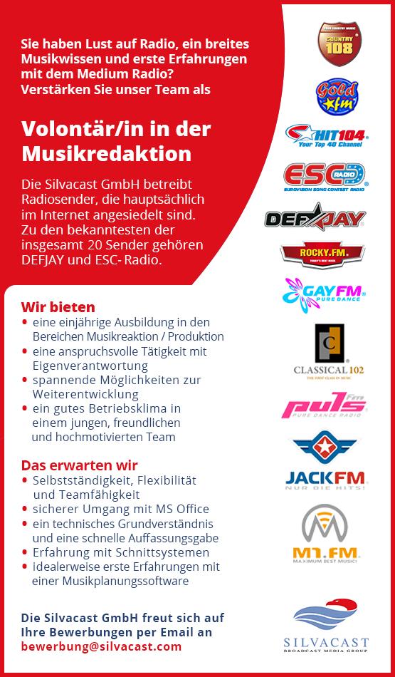 Die Silvacast GmbH betreibt Radiosender, die hauptsächlich im Internet angesiedelt sind. Zu den bekanntesten der insgesamt 20 Sender gehören DEFJAY und ESC-Radio.