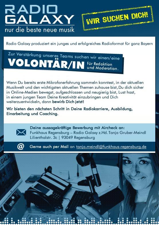 Radio Galaxy produziert ein junges und erfolgreiches Radioformat für ganz Bayern.