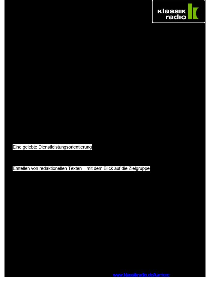 Klassik Radio ist Deutschlands meistverbreitetes Privatradio mit einer konsequenten 360° Digitalausrichtung. Es betreibt einen der erfolgreichsten Klassik-Sender weltweit, veranstaltet eigene Konzerte, verfügt über eigene Shops und mit Klassik Radio Select über einen eigenen Streamingdienst. In Deutschland erreicht Klassik Radio durch sein einzigartiges Programm aus klassischer Musik, New Classics und Filmmusik über sechs Millionen Hörer.