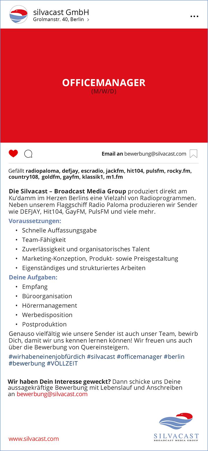Die Silvacast GmbH ist ein seit 20Jahren etabliertes, eigenständiges und unabhängiges Medienunternehmen mit langjähriger Erfahrung im Radiobereich.