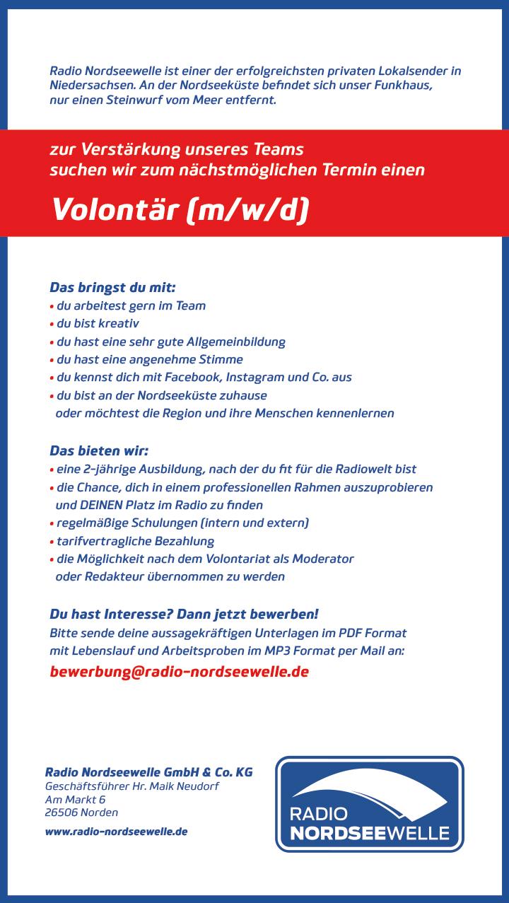 Radio Nordseewelle ist einer der erfolgreichsten privaten Lokalsender in Niedersachsen. An der Nordseeküste befindet sich unser Funkhaus, nur einen Steinwurf vom Meer entfernt.