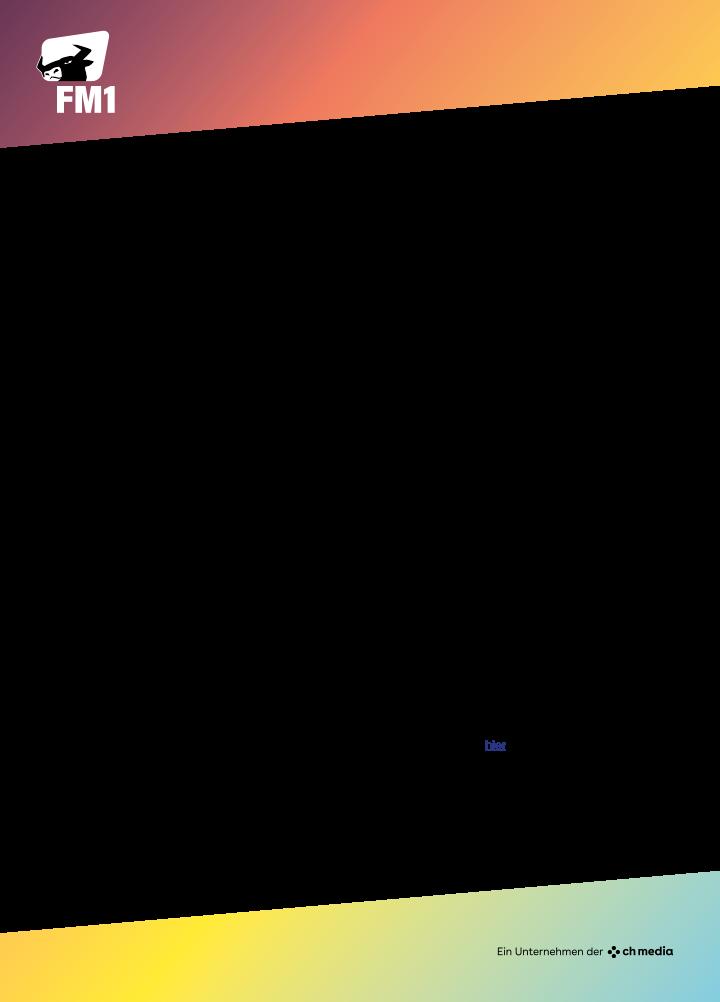 FM1 ist der meistgehörte Schweizer Privatsender zwischen Zürich und Vorarlberg. Der Sender ist über UKW in den Kantonen St. Gallen, Appenzell Innerrhoden, Appenzell Ausserrhoden und in Teilen der Kantone Graubünden, Thurgau, Glarus, Schwyz und Zürich sowie im Fürstentum Liechtenstein und über DAB+ in der ganzen Deutschschweiz zu empfangen.